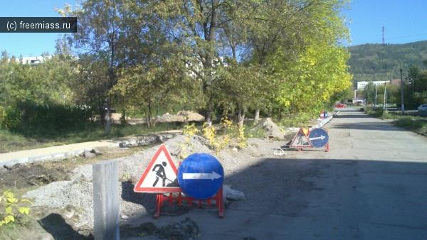 бульвар мира, в миассе, миасс, миасс онлайн, ремонтные работы, фонтан, автозавод, ведутся работы