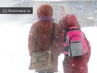 В Челябинской области из-за холодов отменены занятия в школах